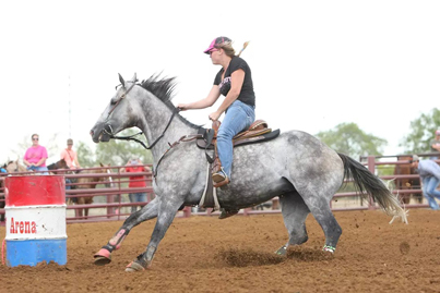 Texas-bred Brooks Open Gold is now embarking on a career as a barrel racer (Photo by Image Hounds Photography/Ken Carmona)